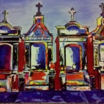 Fun And Colorful New Orleans Cemetery Tomb Painting Acrylic Canvas