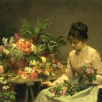 Gabriel Gilbert The Flower Seller Painting Best Paintings For Sale
