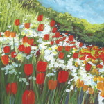 Gallery Dreams Tulip Paintings Red Tulips And Patch