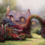 Garden Painting Hot Sale Paintings Oil