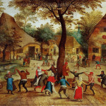 Genre Painting Village Scene Dance Around The May Pole Oil