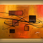 Geometrical Abstract Painting Image Deco Contemporaine Copyright