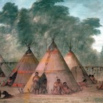 George Catlin Sioux Village Painting
