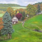 German Countryside Painting Fine Art Print