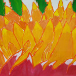 Giant Abstract Flower Paintings Dryden Middle School Art