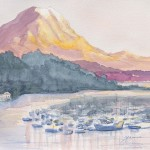 Gig Harbor Watercolor Landscape Painting Ofmt