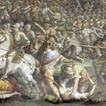 Giorgio Vasari Painting The Battle Marciano May Hide Another