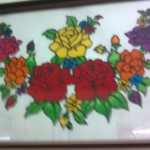 Glass Paintings Art Gallery For Sale Floral Painting