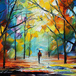 Gothic Mood Original Art Oil Painting Canvas Leonid Afremov