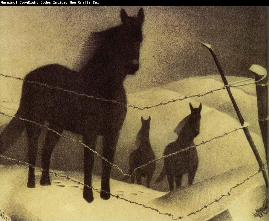 Grant Wood Paintings Painting February Order Now