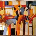 Graphic Abstract Modern Art Painting Worth Galleries
