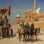 Great Mosque Delhi India Oil Painting American Artist Edwin