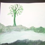 Green Monochromatic Painting