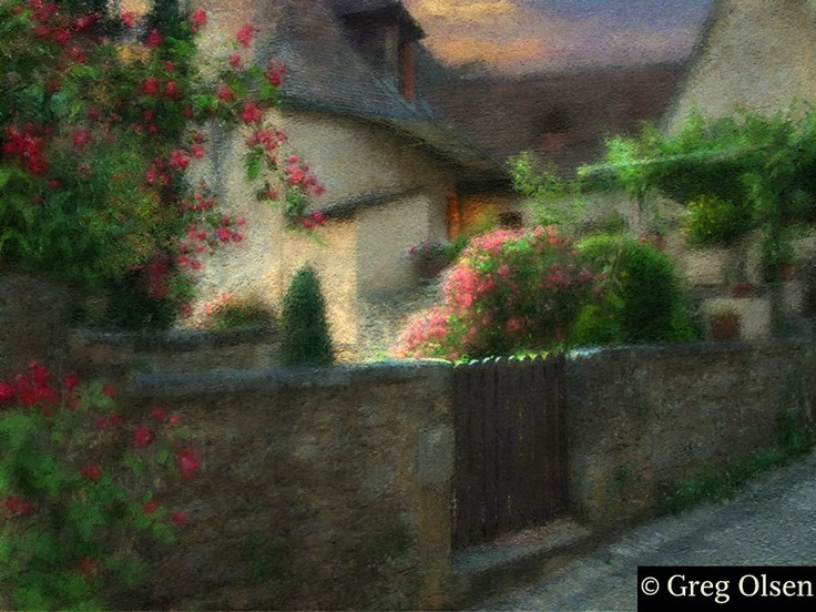 Greg Olsen Little Garden Gate Art