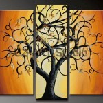 Group Painting Decoration Artwork Money Tree Reproduction Paintings
