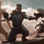 Guardians The Galaxy Concept Art Shows Left Right Drax