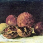 Gustave Courbet Paintings Pomegranates Painting