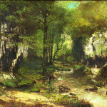 Gustave Courbet The Stream Puits Noirs Valley Loue