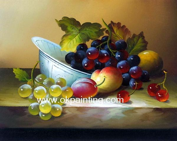 Hand Painted Fruits Classic Oil Paintings For Wholesale
