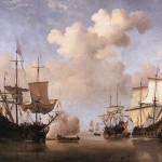 Hand Painted Oil Painting Reproduction Canvas Dutch Ships Coming
