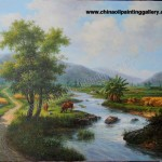 Hand Painted Oil Painting Reproduction Canvas Landscape
