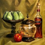 Hand Painted Still Life Oil Painting Pears