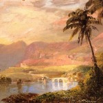 Handmade Reproduction Tropical Landscape Painting For Sale