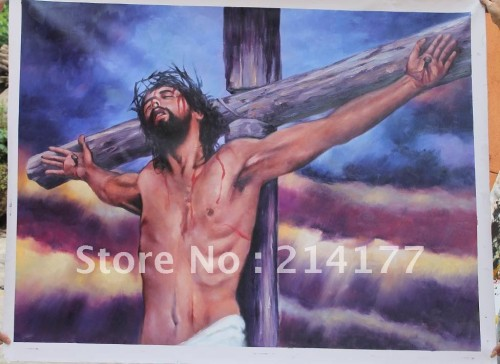 Handpainted Famous Font Jesus Christ Oil