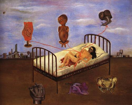 Henry Ford Hospital Painting Frida Kahlo Oil