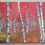 Here The Birch Tree Painting And Similar Mountains Lake Trees