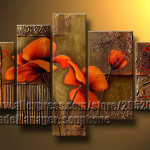 High End Large Texture Wall Canvas Art Picture Poppy Oil Painting