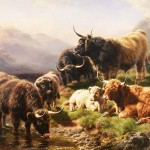 Highland Cattle Painting William Watson Oil