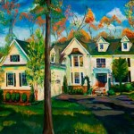 Highland Park Houses Oil Painting Landscapes New Jersey Homes