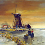 Holland Windmill Oil Painting For Sale Antiques Classifieds