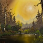 Home Paintings Bob Ross Hazy Sunset