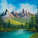 Home Paintings Bob Ross Shopping Painting