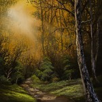 Home Paintings Bob Ross Sunlit Trail Painting