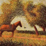 Home Paintings Georges Seurat Horse