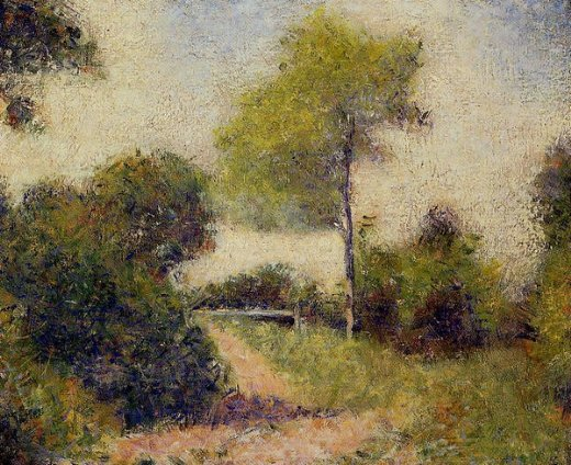 Home Paintings Georges Seurat The Hedge