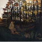 Horace Pippin The Squirrel Hunter Painting