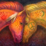 Horse And Peace Painting War Fine Art