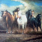 Horse Oil Painting China Realism