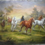 Horse Painting China Animal Oil