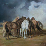 Horse Paintings Grouped