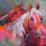 Horses Painting Contemporary Fine Art Print