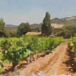 House And Vineyard Beaumes Venise Daily Painting Julian