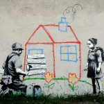 Houses Peace Banksy Digital Art And Mobile