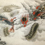 Huge Dragon And Phoenix Painting Tigers Dragons Paintings Wall