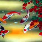 Huge Koi Fish And Lychee Painting Asian Paintings Wall