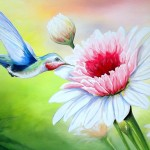 Hummingbird Heaven Painting Fine Art Print